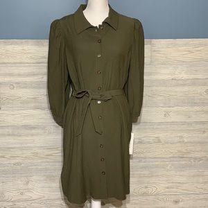 NWT olive green Calvin Klein dress